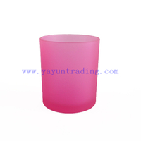 400ml Frosted Glass Candle Holder