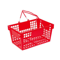 22L Double Metal Handle Shopping Basket B-15