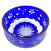 Round Shaped Blue Decoration High Quality Glass Fruit Bowl
