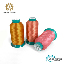 Shiny Recycled Polyester Embroidery Thread