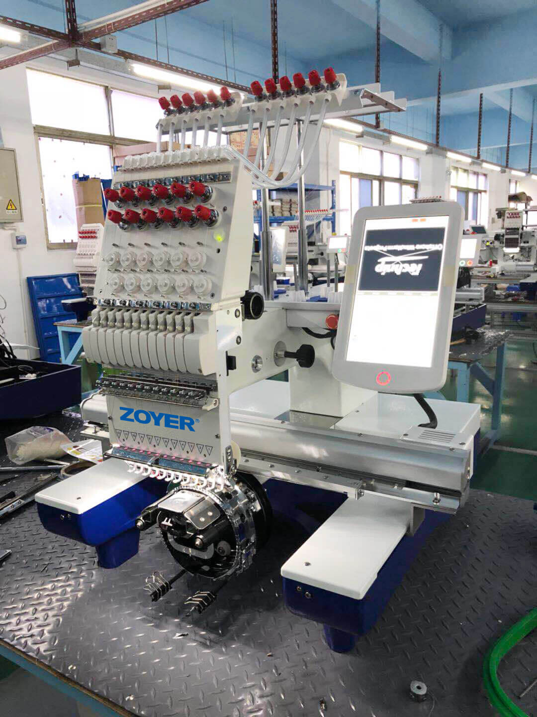 ZY-EM0112 single head 12 needle Embroidery machine