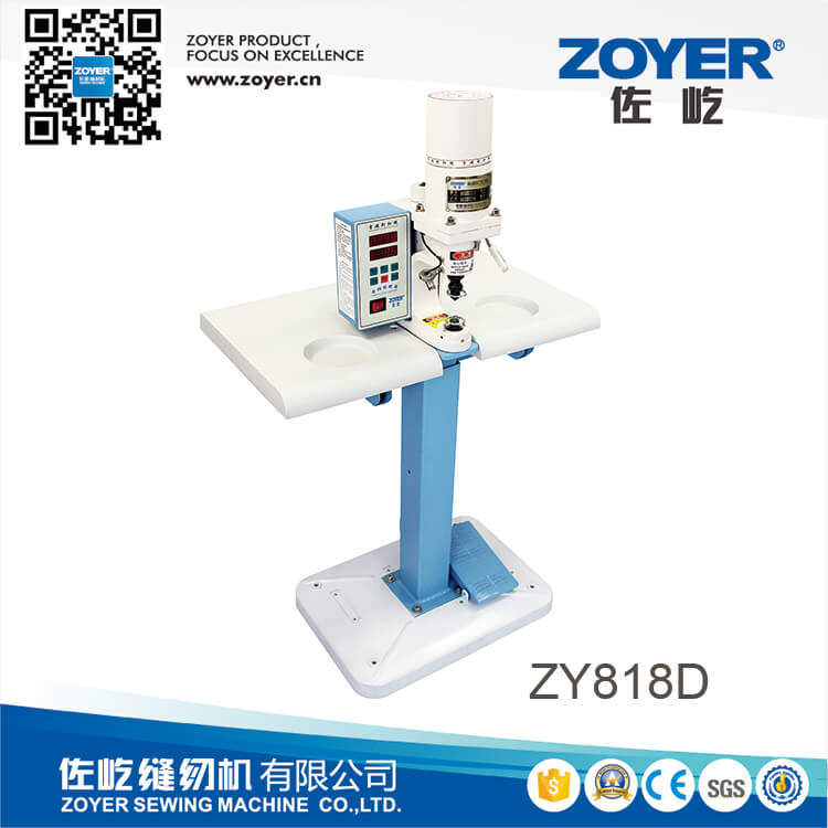 ZY818D zoyer Direct drive snap button attaching machine with infrared
