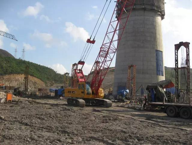 Sany SCC500D crane construction in thermal power plant in Vietnam's Haiphong project