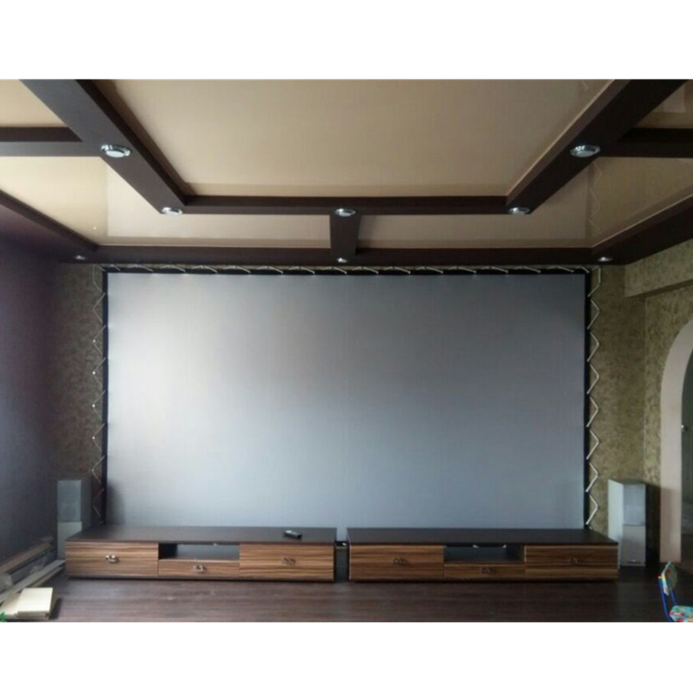 Top Sell Eyelet Screen with Eyelet 3D Silver Rear Projection Screen Fabric HD Foldable Portable