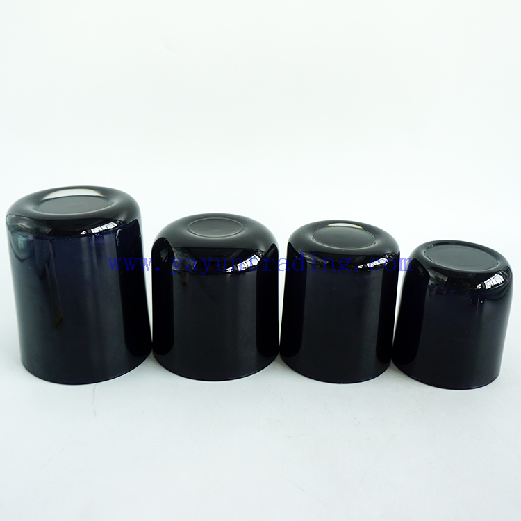 Wholesale 3oz 5oz 6oz 7oz 8oz 10oz 13oz 15oz 16oz 20oz Shiny Black Cylinder Glass Candle Bowls