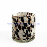Fancy Design Glass Candle Jars Hand Blown Candle Holder for Candle Making