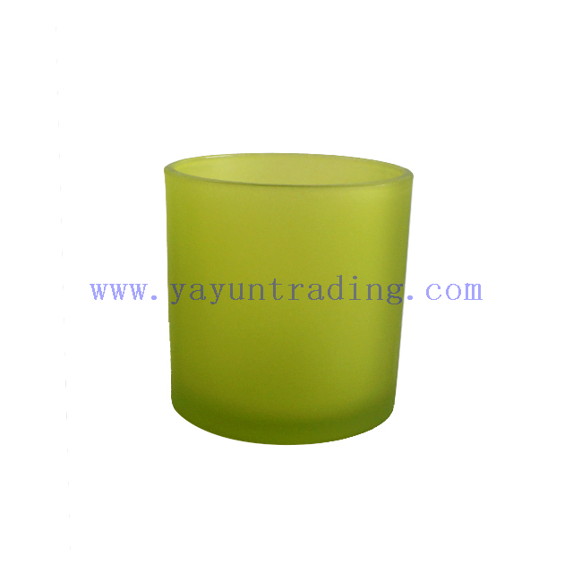 520ml Matte Green Glass Candle Holder