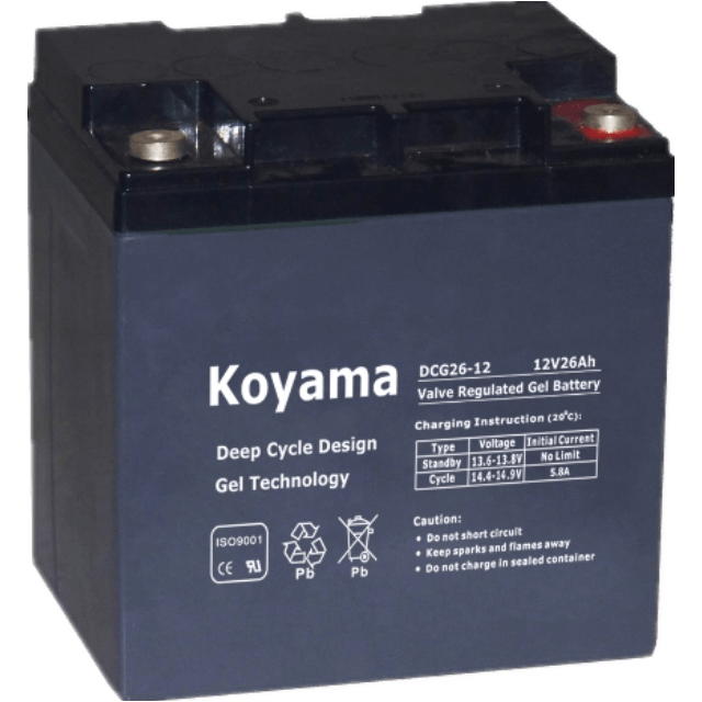 12V24AH Deep Cycle Gel Battery DCG24-12 for Scooter