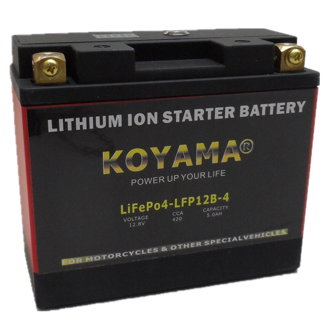 12.8V 5ah China Best Motorcycle Starting Battery Motorcycle LiFePO4 Battery LFP12B-4