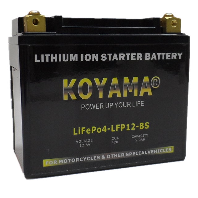 12.8V 5ah Lithium Ion Motorcycle Battery LFP12-BS
