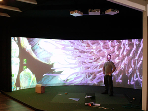 180 degree Customized Large Curved Projection Screen for Flight Simulator System