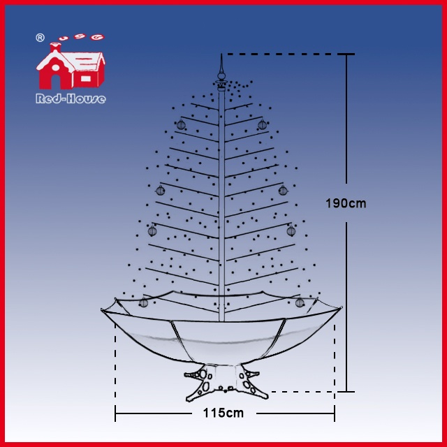 (40110U170-RW) Indoor Holiday Snowing Christmas Decorations Artificial Xmas Tree