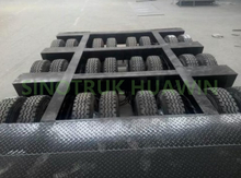 100T 3 Lines & 6 Axles Lowbed Semi Trailer