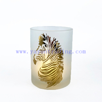 High Quality Elegant Empty Cylinder Glass Candle Vessel