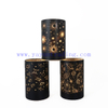 Flat Bottom Cylinder Creative Glass LED Electric Candles Jars For Decor