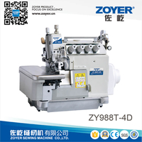 ZY988T-4D Zoyer EX series 4-thread top and bottom feed overlock sewing machine