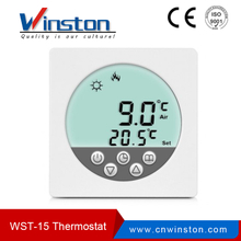Factory Wst-15 LCD Digital Round Screen Programable Termostato de ambiente