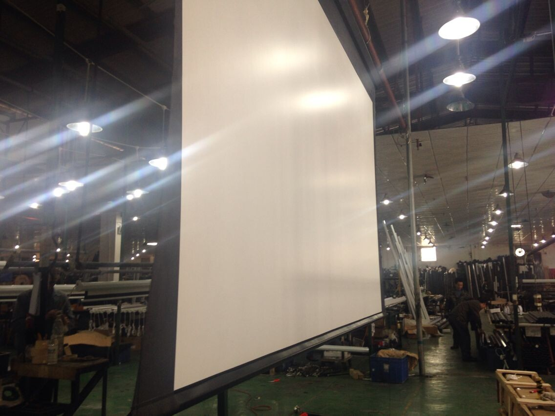 400 Inch Large 16:10 Ratio Projector Electric Tab Tension Projection Screen With with Tubular Motor and Remote Control