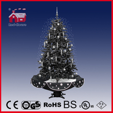 (40110U170-HS) Delicate Ball and Chillies Decoration LED Snowing Christmas Tree