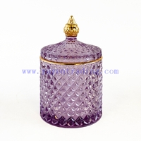 Heat Resistant 10oz 300ml Dome Glass Candle Jar with Lid