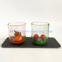 yayun news arrival bubble glass candle jars pink green glass candle tumblers 10oz