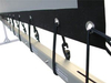 Simply constructed projector /customized projection screen with eyelets/ holes and black edge