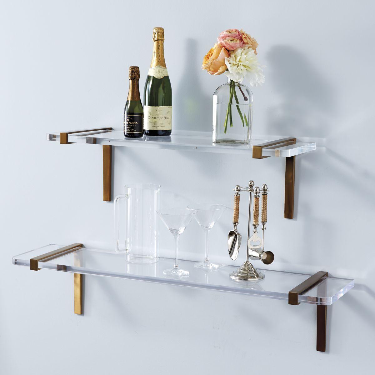 Custom Simple Shelf Acrylic Wall Mount Display Manufacturer