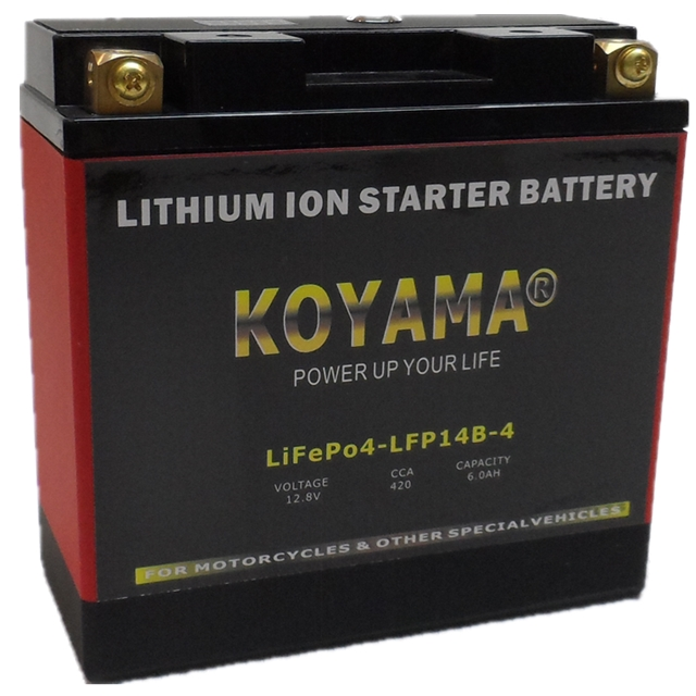 12.8V 6ah LiFePO4 Lithium Starter Battery LFP14B-4