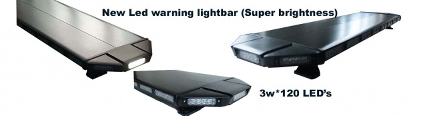 black led warning lightbar
