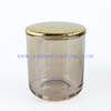 Machine Made 8oz Candle Jar Clear Classical Glass Candle Holder With Lids