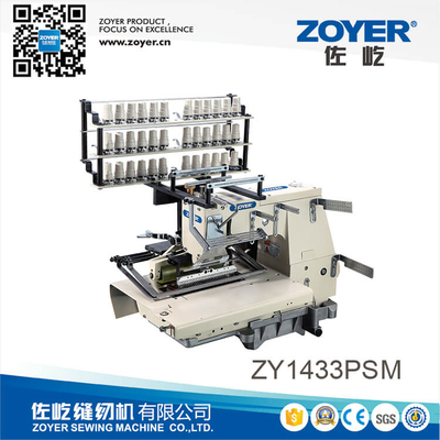 ZY 1433PSM Zoyer 33-needle flat-bed double chain stitch smocking sewing machine with shirring