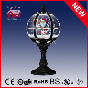 (LT30059C-HS11) Classic Black Christmas Eve Tabletop Lamp with Lace LED Decoration