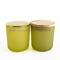 High Quality Home Decorative Empty Glass Candle Holders with Lids