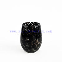 New Design Shiny Egg Shaped Glass Candle Jars