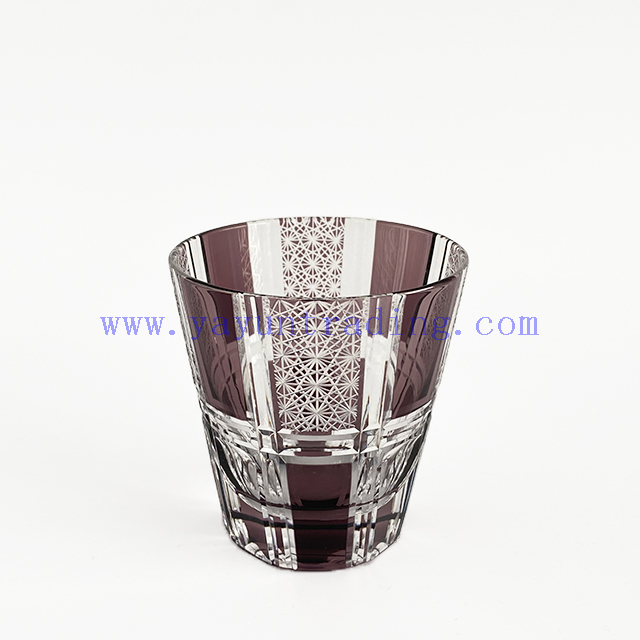 Different Color Embossed Glass Cup Drinking Glass Tumbler