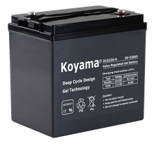 6V250AH Deep Cycle Gel Battery DCG250-6-T105