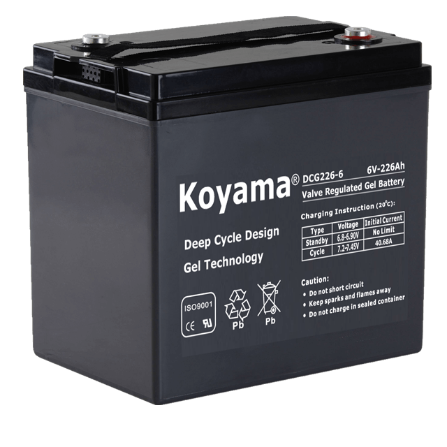 6V226AH Deep Cycle Gel Battery DCG226-6 for floor machine