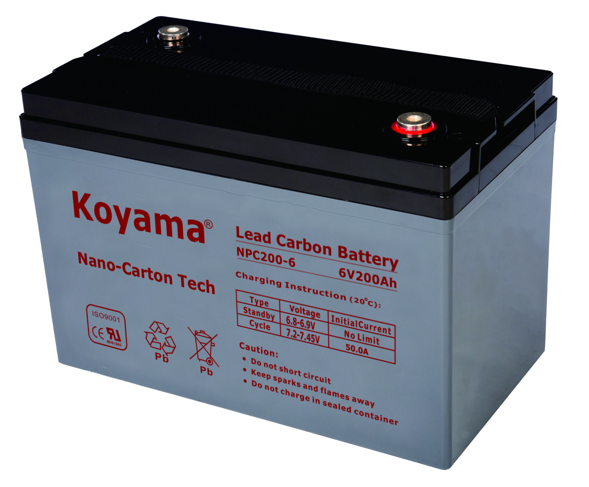 6V 200AH High Quality Deep Cycle Lead Carbon Battery NPC200-6