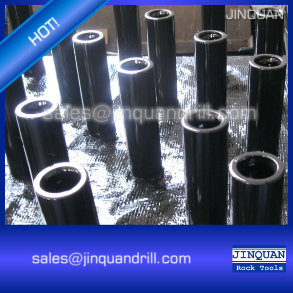 T38 thread drill steel rod coupling sleeve 190mm length