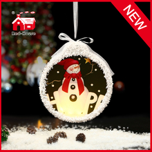 New Design Christmas Gift Glass LED Ornament