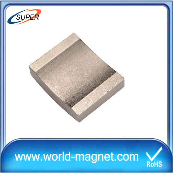Customized N48h Nickel Permanent Arc Neodymium Magnets