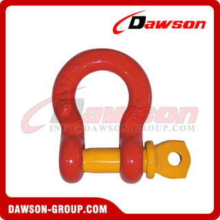 DS758 G8 Screw Type Alloy Bow Shackle, Anchor Shackle with Screw Pin
