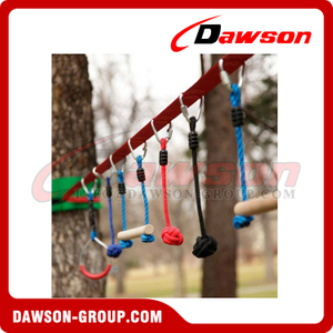 Private Label Outdoor Obstacle Course for Kids, Slackline Kit, Playset Equipment for Outdoors and Backyard