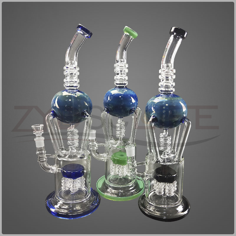 Head Bend Glass Water Pipe With More Filters