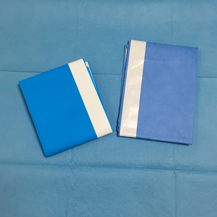 Disposable 2/3 Layers Adhesive Surgical Drape Sheet With Side tape