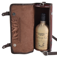 Retro Wine Packaging Box Leather Liquor Bag for Gift