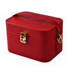 2020 New Professional Cosmetic Bag Pu Leather Women Fashion Jewelry Vanity Box with Zipper