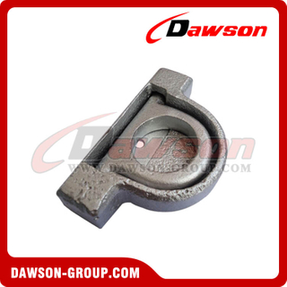 PPE-10 BS 5000kgs/11000lbs Surfaced Mounted Lashing D Ring - Pan Fitting for Truck