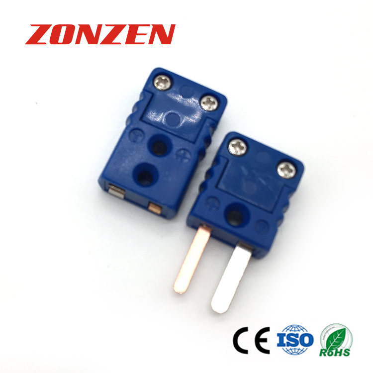Molded Mini Thermocouple Connector Flat Pin