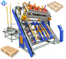 Hot Branding Full Automatic stringer wood pallet nailing making machine price